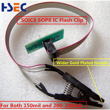 Wider Gold Needle SOIC8 SOP8 IC Test Clip/ IC flash clip For BIOS 93/25/24  TL866CS TL866A EZP2010 EZP2013 RT809F Programmer USe