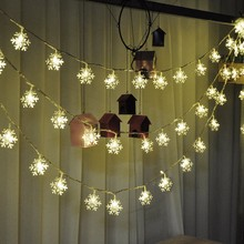 Fairy Light Xmas Party Wedding Snowflake Bulbs Christmas Tree Lights 2.5M 20Led 4M 40Led Garden Garland Christmas Decorations
