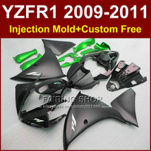 Motorcycle parts for YAMAHA fairings YZF-R1 09 10 11 12 Flat black  bodywork YZF1000 +7Gifts Injection YZF R1 2009 2010 2011 R1