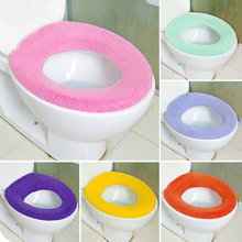 1PC Warmer Toilet Seat Cover for Bathroom Products Pedestal Pan Cushion Pads Use In O-shaped Comfortable Toilet Random Color(China)
