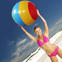 90CM Adult Colorful Beach Ball Pool Float Inflatable Water Toys Outdoor Sport Pilates Fitness Appliance Exercise Balance Ball(China)