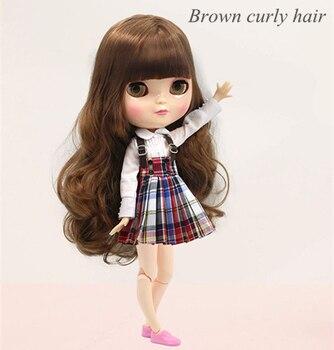 Livraison gratuite poupée Glacée y compris chaussures et vêtements cheveux longs 30 cm comme usine blyth jouet poupée poupée organe commun commune poupée