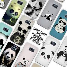 Hot Sale Panda Cute Clear Case Cover Coque Shell for Samsung Galaxy S3 S4 S5 Mini S6 S7 Edge Plus(China)