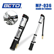2017 BETO MP-036 High-end Mountain Bike Portable High-pressure Inflator Hose Screw Type Inflatable Pump Mini Pump Bicycle