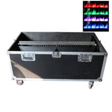 Gigertop Led Fake Flame Machine Mist System Colorful Flame Effect DMX512 Control Continual Flame Running for Stage Lighting Use