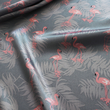 Soft Polyester Charmeuse Fabric Pink Flamingo Satin Material Lining