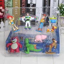 9pcs/set Toy Story Woody Buzz Lightyear Jessie PVC Action Figure Toys Dolls Christmas gift