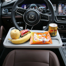 Universal Multifunctional Car Laptop Holder Car Steering Wheel Work Desk Tray Organizer Travel Table Food Drink Cup Holder(China)