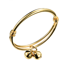 New arrival Baby bracelets Copper plated gold accessories children bangle adjustable open bangles jewelry  WSZ001