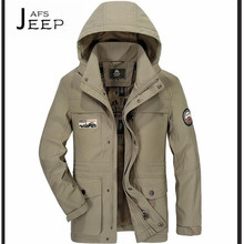 AFS JEEP High Quality One Layer jacket, Summer/Autumn Active Man's Best choice brand detachable hat solid breathe jackets males