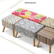Solid wood clothing store sofa stool fashion dressing bed bench test shoes small long stool