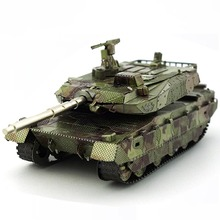 Colorful Type 10 MBT Tank Fun 3d Metal Diy Miniature Model Kits Puzzle Toys Children Educational Boy Splicing Hobby Building