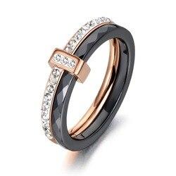 Женские керамические обручальные кольца, 2 слоя