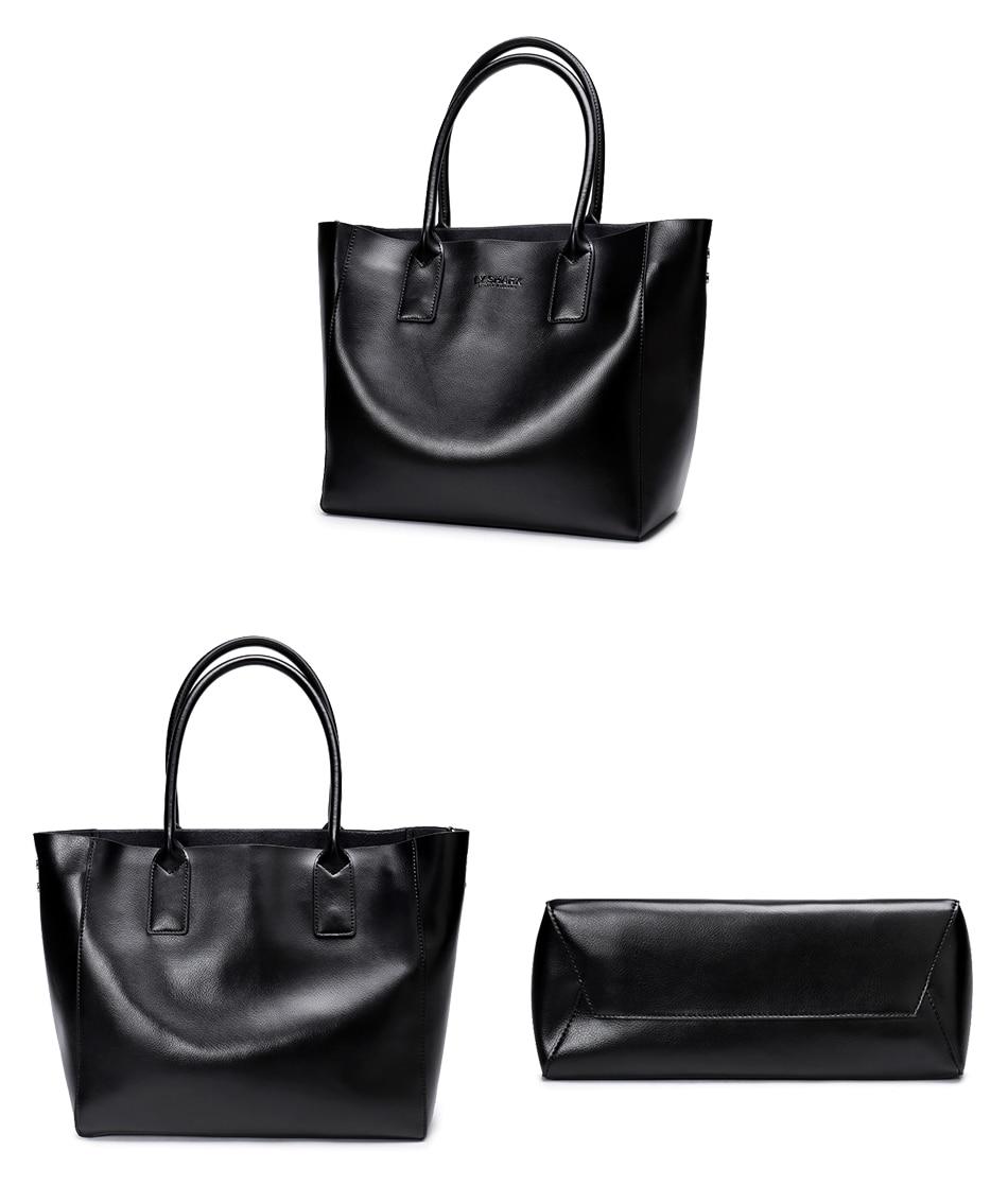 LY.SHARK female bag ladies genuine leather women bag shoulder messenger bag women handbag big famous brand designer fashion tote 24