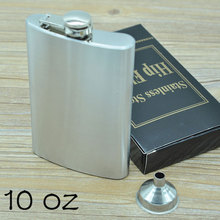 10 oz(285ml) Men's Hip Flasks Stainless Steel Garrafa Whisky Alcohol Bottle Portable Lighter with Funnel Outdoor Drinkware CT337(China)