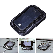 Car-Styling Mobile Phone Holder Dashboard Mat Multifunction PU Interior Accessories Case For  Anti Slip sticky gel pad