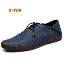 K-TUO New Men Spiring & Autumn Walking Shoes Male Outdoor Sport Shoes Summer Sneakers Walking Genuine Leather shoes KT-8801-1(China)
