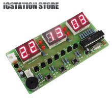 C51 Six 6 Bits Digital Electronic Clock Electronic Production Suite LED Display DIY Kits 7-12V