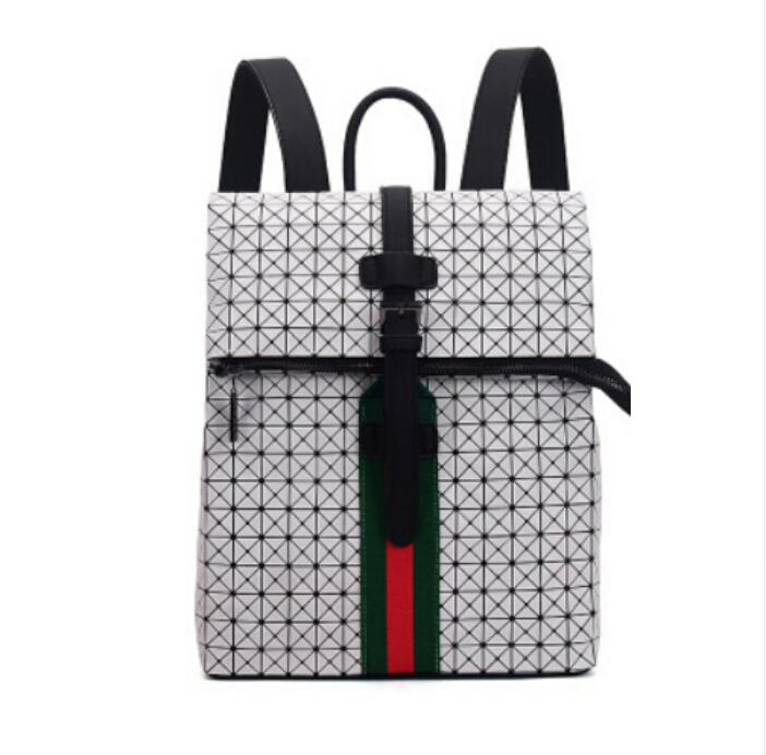 2017 Bao Bao backpack female /male Fashion backpack Geometric Pattern Laser Hologram diamond lattice Folding Bags school bags<br>