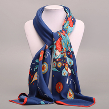 Large Square Twill Silk Scarf For Women Ladies Spring Summer Scarves Female Original Brand Shawls And Scarves Wraps 100*100cm(China)