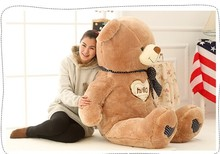 "130cm ""hello"" love sweet teddy bear plush toy bear doll , Christmas gift b7817(China)"