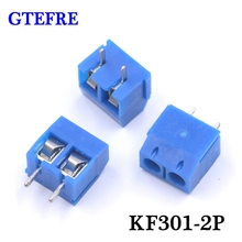 20pcs KF301-2P Blue Plug-in Splice Type KF301-5.0-2P Pitch 5.0mm 2Pin Screw Terminal Block Connector 5.08mm Pitch Splice Type(China)