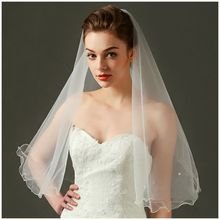 1 Milky White Nylon Rolling Bead Bride Head Shine Waves Size: 150 * 110cm(China)