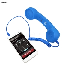 Newest Radiation-proof 3.5mm Retro Telephone Handset adjustable tone Cell Phone Receiver Microphone Earphone for iPhone Fashion(China)