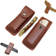 fold knife tool flashlight belt loop case holder leather sheath holster pouch bag pocket hunt camp outdoor carry edc multi gear(China)
