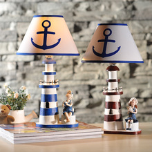 Mediterranean Style Lighthouse Learning Lamp Study Room Lighthouse Lamp Children Boys And Girls Home Table Decoration