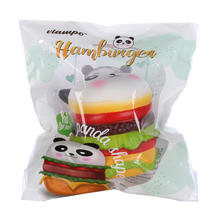 1pc Retail Panda Hamburger Squishys New Slow Rising Jumbo Squishy Toys Stress Release Toy Squishies Kawaii Licensed 10cm