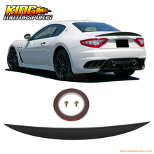 For 2008-2014 Maserati Gran Turismo MC GT S IK Type Trunk Spoiler Unpainted - ABS USA Domestic Free Shipping