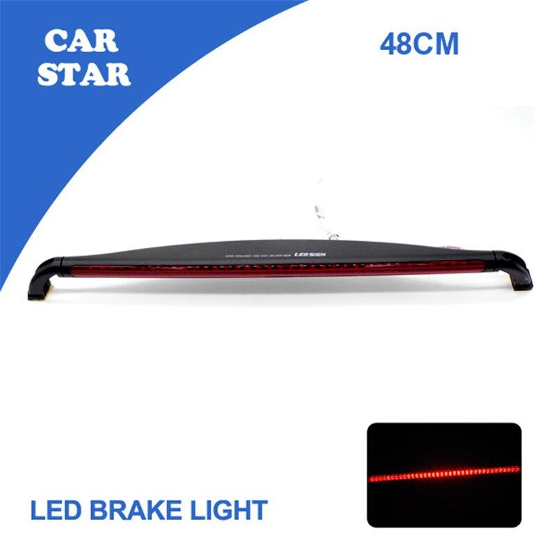 Free Shipping 2015 New LED Third Brake Light 12V LED Warning Light Bar Car Auto Fog Tail Rear Lamp Red Car Styling<br><br>Aliexpress