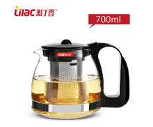 700ml Glass TeaPot Drinkware Home & Office Tea Pot Kettle Heat-Resistan Stainless steel Strainer Freeshipping