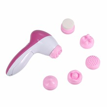 High Quality 6 IN 1 Facial Massager Cleaner Face Skin Care Electric Scrubber SPA Stimulate Skincare Beauty tool