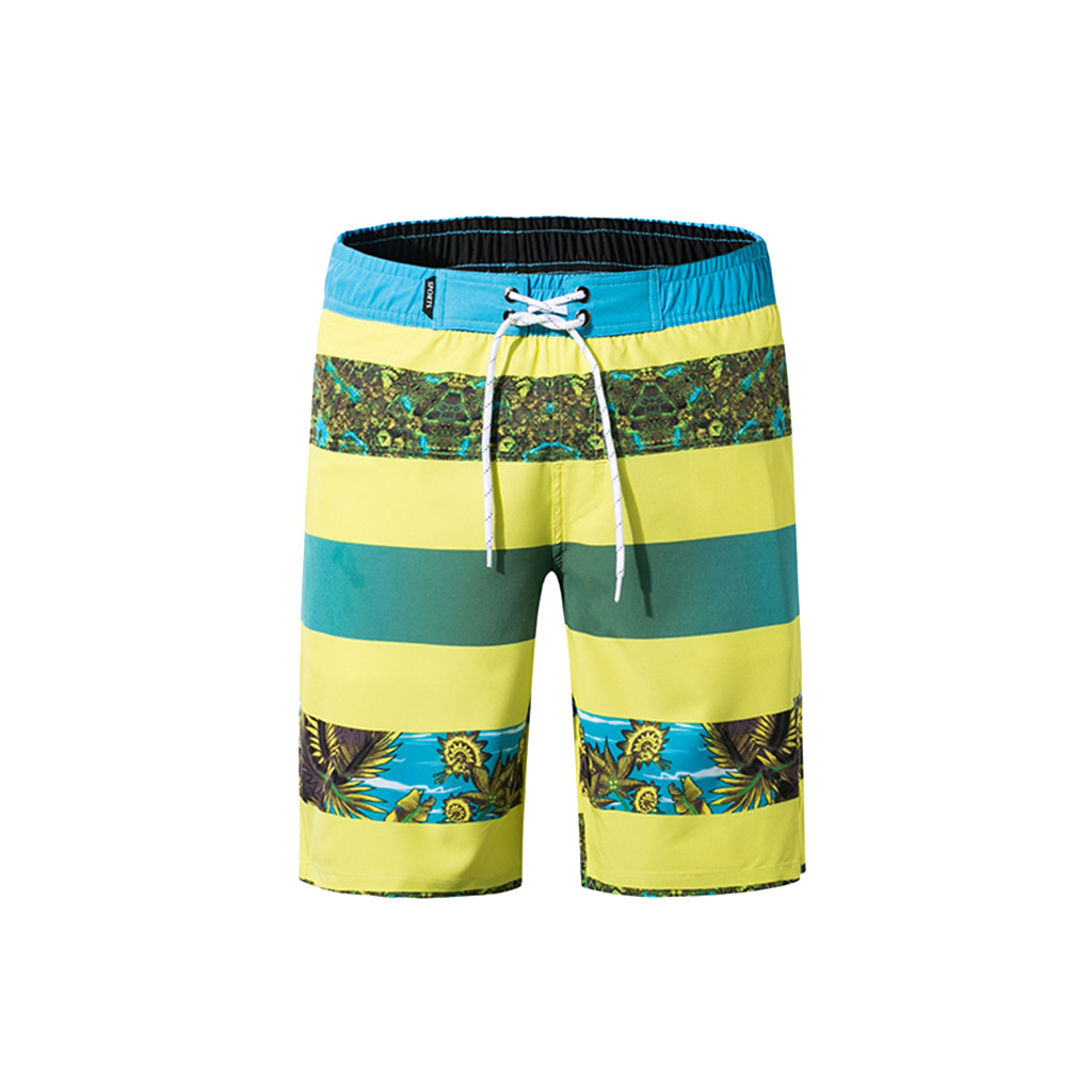 Sunshine Chinese Flowers Print Mens Beach Shorts Elastic Waist Pockets Lightweight Swimming Board Short Quick Dry Short Trunks