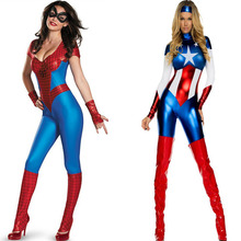 Fashion Super Hero Advenger Cosplay Costume For Adults Women Lady Female Party Fancy Dress Clothing Cloak Set