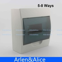 5 - 8 ways Plastic distribution box for circuit breaker indoor on the wall(China)