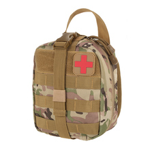Outdoor Utility Tactical Pouch Medical First Aid Kit Patch Bag Molle Medical Cover Hunting Emergency Survival Package 2 colors(China)