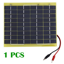 5W Solar Cell panel 5 Watt 12 Volt Garden Fountain pond Battery Charger +Diode(China)