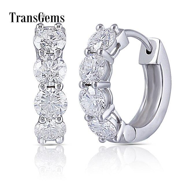 Boucles d/'oreilles 10K or rose Morganite et Diamant 1.20 ct CTW