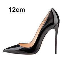 12cm size 34-41 Pointed Toe women banquet Pumps lady Wedding Party Shoes girl leather Casual dancing party high heels G47