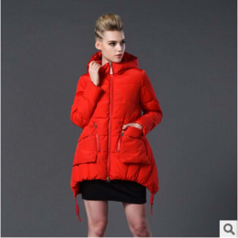 European American high-end warm Thicken Long down cotton coat new 2016 Women winter slim hooded plus size 7XL cotton coat FLM630Одежда и ак�е��уары<br><br><br>Aliexpress