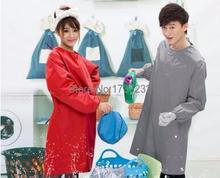 fashion long-sleeved gown anti-dressing apron men and women waterproof cleaning service car wash pinafore(China)