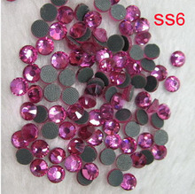 1000gross/PACK LOT (1.9-2.0mm) SS6 FREE SHIPPING BIG PLASTIC BAG CRYSTAL HOT FIX STONES DMC MOTIF RHINESTONES