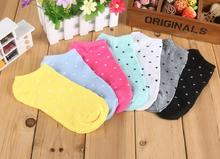 Warm comfortable cotton bamboo fiber girl women's socks ankle low female invisible  color girl boy hosiery5pair=10pcs WS03-6