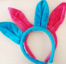 Winter Cute Women Adult  Party Rabbit Ear Hairclip Faux Furry  Headbands Hair Accessories Headwear Hair Hoop
