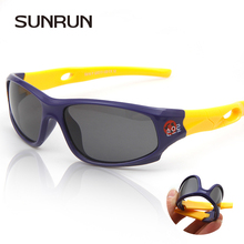 SUNRUN Children's Polarized Sunglasses Baby Child Care UV Glasses Security TR90 frame Brand Goggles Sun Glasses For Kids S816(China)