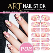 New arrives water transfer nail sticker decals korea style  flower world mixed  DIY nail art decoration tools make up nail 56-60