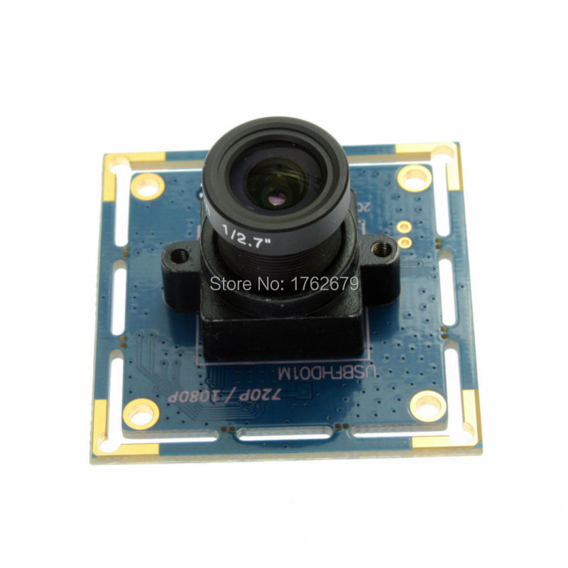 FULL HD 1080P MJPEG 2.0 Megapixel CCTV USB board camera micro pcb camera with 2.1/2.8/3.6/6/8/12/16mm lens optional<br>